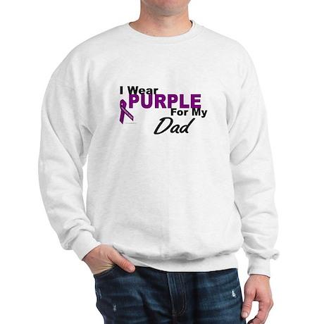 I Wear Purple For My Dad 3 (PC) Sweatshirt