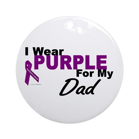 I Wear Purple For My Dad 3 (PC) Ornament (Round)
