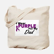 I Wear Purple For My Dad 3 (PC) Tote Bag