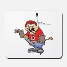 Goofy Hockey Player Mousepad