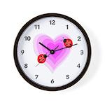 Ladybug Love Wall Clock