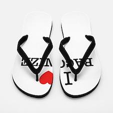 I Love BACONIZE Flip Flops