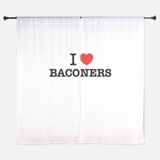 I Love BACONERS Curtains