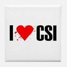 I love CSI Tile Coaster