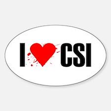 I love CSI Oval Decal