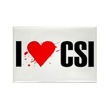 I love CSI Rectangle Magnet