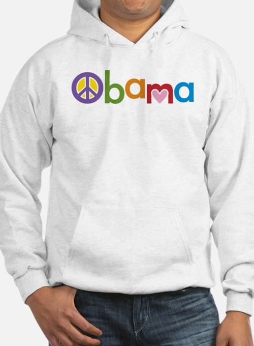 Cute Obama for peace Hoodie