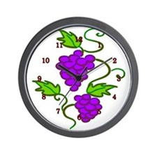 Grapes on a Vine Wall Clock