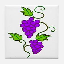 Grapes on a Vine Tile Coaster