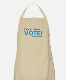 Don't boo... Vote! #strongertogether Apron