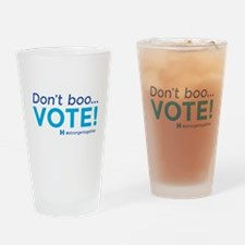 Don't boo... Vote! #strongertogether Drinking Glas