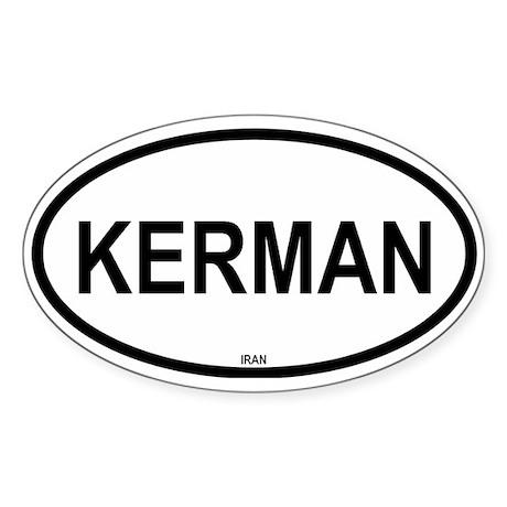 Kerman Oval Sticker