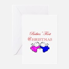 A Twin's Christmas! Greeting Cards (Pk of 20)