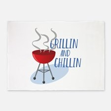 Grillin And Chillin 5'x7'Area Rug