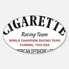Cigarette racing team Decal