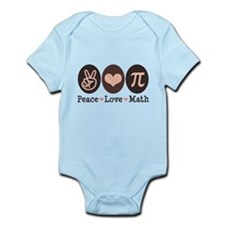 Peace Love Math Pi Onesie Infant Bodysuit