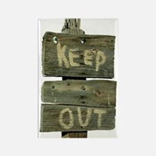 Keep Out Rectangle Magnet