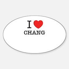 I Love CHANG Decal