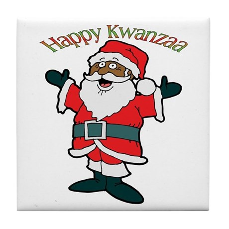 It's Kwanzaa Time! Tile Coaster