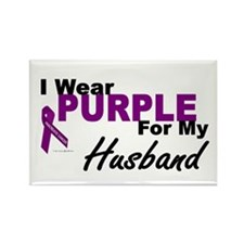 I Wear Purple For My Husband 3 (PC) Rectangle Magn