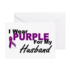 I Wear Purple For My Husband 3 (PC) Greeting Card