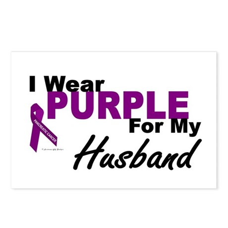 I Wear Purple For My Husband 3 (PC) Postcards (Pac