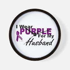 I Wear Purple For My Husband 3 (PC) Wall Clock