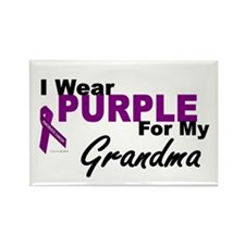 I Wear Purple For My Grandma 3 (PC) Rectangle Magn