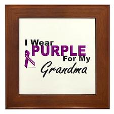 I Wear Purple For My Grandma 3 (PC) Framed Tile