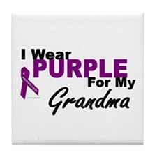I Wear Purple For My Grandma 3 (PC) Tile Coaster