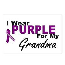I Wear Purple For My Grandma 3 (PC) Postcards (Pac