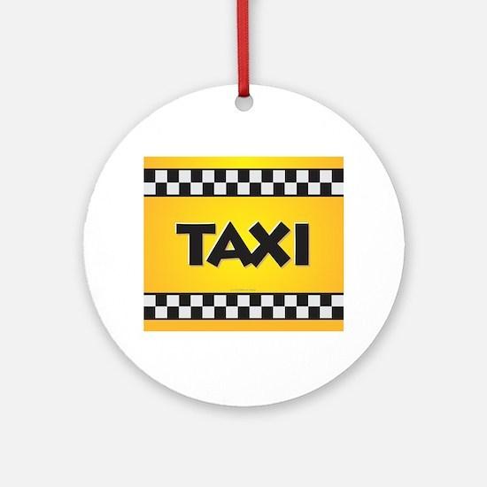 Taxi Round Ornament