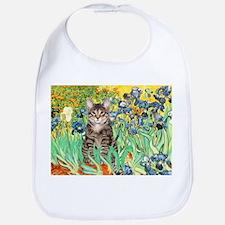 Irises / Tiger Cat Bib