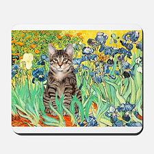 Irises / Tiger Cat Mousepad