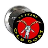 50th birthday buttons 10 Pack