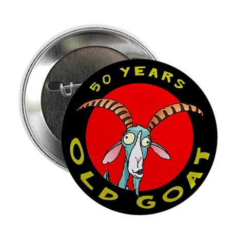 """Old Goat 50 2.25"""" Button (10 pack)"""