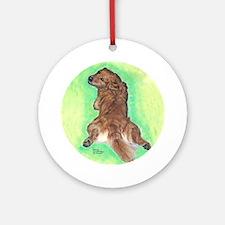 Golden Retriever Frog Dog Ornament (Round)