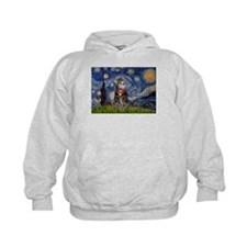 Starry Night / Tiger Cat Hoodie