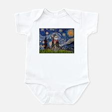 Starry Night / Tiger Cat Infant Bodysuit
