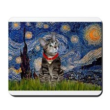 Starry Night / Tiger Cat Mousepad
