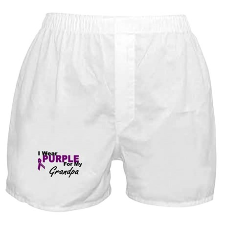 I Wear Purple For My Grandpa 3 (PC) Boxer Shorts