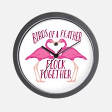Birds Of Feather Wall Clock
