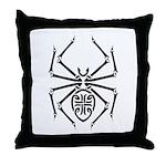 Tribal Spider Design Throw Pillow