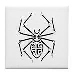 Tribal Spider Design Tile Coaster