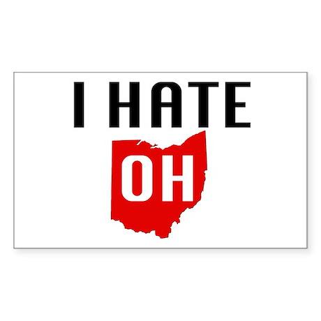 I HATE OHIO - Rectangle Sticker