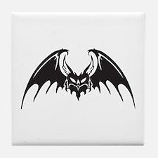 Tribal Vampire Bat Design Tile Coaster