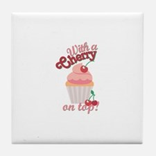 Cherry On Top Tile Coaster