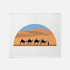 Camel Caravan Throw Blanket