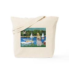 Monet's Sailboats & Shih Tzu Tote Bag