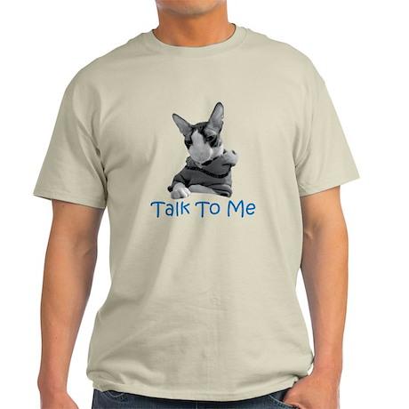 Talk to Me Ash Grey T-Shirt